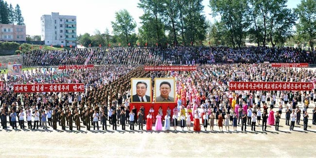 Army-People Rallies Hail Success in H-bomb Test. Credit: The Rodong Sinmun.