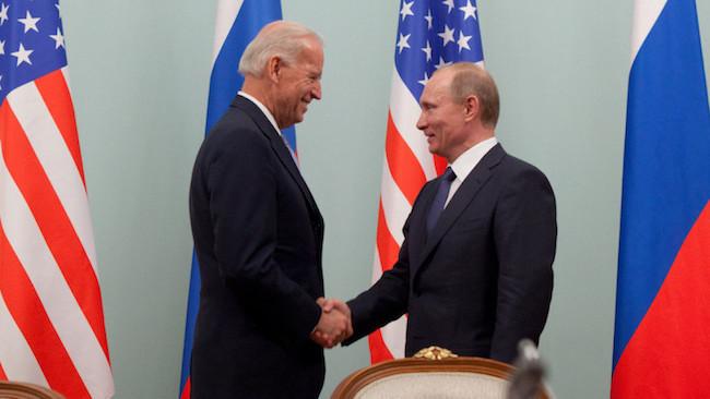 Photo: US President Joe Biden with Russian counterpart Vladimir Putin. Credit: David Lienemann | Official White House