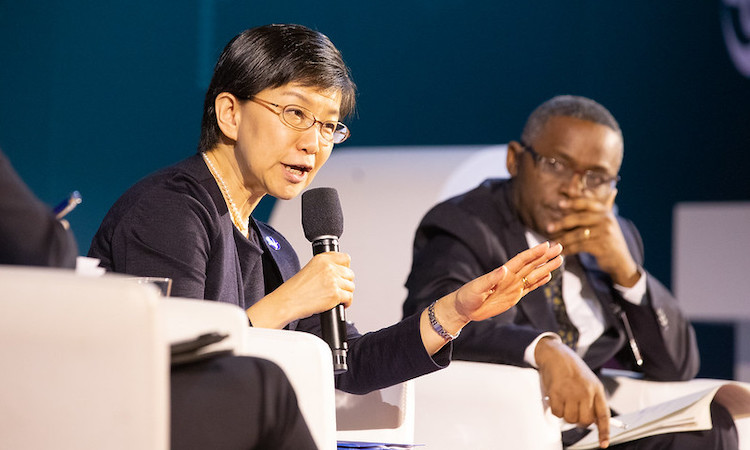 "Photo: Izumi Nakamitsu, UN High Representative for Disarmament Affairs (UNODA) addressing the High-Level Panel ""CTBT: Science and Technology in a Changing World"" on 24 June at Hofburg Palace, Vienna, in the opening session of the Science and Technology Conference2019 (SnT2019) 24 June-28 June 2019. Credit: CTBTO"