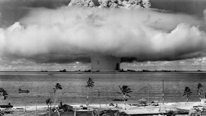 Photo: File photo of the test of a nuclear weapon. Source: The Vatican