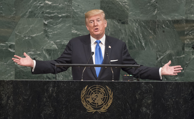 Photo: U.S. President Donald J. Trump addresses the General Assembly's annual general debate on 19 September 2017. Credit: UN Photo/Cia Pak